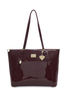 Angel Patent Burgundy Shopper