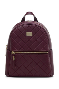 Boston Burgundy Quilted Backpack