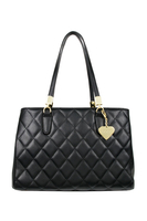Melrose Quilted Black Handbag