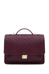 Montana Burgundy Quilted Backpack