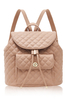 Quilted Camel Backpack