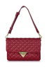 Tina Quilted Red Clutch Bag