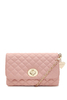 Yaz Quilted Blush Pink Clutch Bag