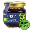 Food Raw Organic Forest Honey with Blueberry (Loov) 6x150g