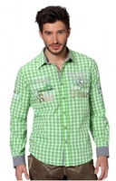 Trousers & Shorts|Traditional Costume  - Chequered oktoberfest shirt Cliff pistachio