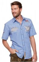 Trousers & Shorts|Traditional Costume  - Chequered short sleeve shirt for men Brad azure