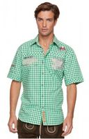 Trousers & Shorts|Traditional Costume  - Chequered short sleeve shirt for men Brad pistachio