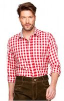 Trousers & Shorts|Traditional Costume  - German chequered shirt Ricon bright red