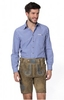 Trousers & Shorts|Traditional Costume German leather trousers short Marcus cornantique blue