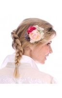 Traditional Costume|Blouse|Accessories  - Hairclip HC 243 Flower apricot