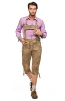 Trousers & Shorts|Traditional Costume  - Leather trousers knee length Hochk