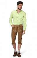 Trousers & Shorts|Traditional Costume  - Leather trousers knee length Justin2 lightbrown