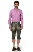 Trousers & Shorts|Traditional Costume  - Leather trousers knee length Louis antiquebrown