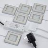 Lighting|Lamps & Lights Square LED cabinet light packed in six with 15W driver with plug in Warm, Natural Or Cool White