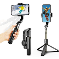 Digital Photography  - 3-in-1 Handheld Bluetooth Gimbal Stabiliser Mobile Phone Tripod/Selfie Stick