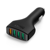 Aukey 2.4A Quad Port Car Charger with Quick Charge 3.0