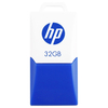 HP 32GB V160W Mini Sleek USB Flash Drive - Blue/White
