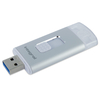 Integral 32GB MoreStor USB 3.0 Lightning Dual Connector Flash Drive - Silver