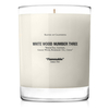 White Wood 3 Candle