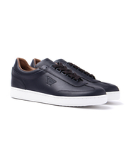 Shoes  - Armani Jeans Blue Graphite Leather Trainers