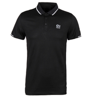 T-Shirts, Polos & Tops  - Cruyff Hans 2 Black Tailored Fit Pique Polo Shirt