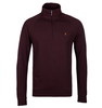 Farah Aged Port Quarter Zip Pique Sweatshirt