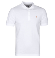 T-Shirts, Polos & Tops  - Farah Blaney White Pique Polo Shirt