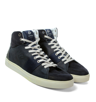 Shoes  - Kinner Italia Navy Hi-Top Trainers