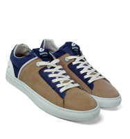 Shoes  - Kinner Italia Royal Blue & Taupe Trainers