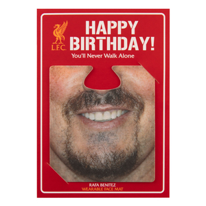 LFC Benitez Facemat Birthday Card