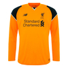 LFC Kids Long Sleeve Away Goalkeeper Shirt 16/17
