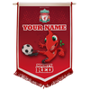 LFC Personalised Mighty Red Pennant