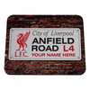 LFC Personalised Street Sign Mousemat