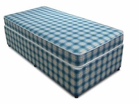 Divan Beds  - Budget 2ft 6in Small Single Bed Base only in Blue Check