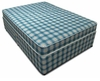 Divan Beds Budget 4ft Small Double Divan Bed with Mattress in Blue Check