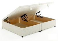 Beds  - Regent 4ft 6in Double Ottoman Storage Divan Bed Base in White Cotton