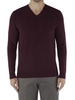 Jeff Banks Burgundy V Neck Jumper Med Burgundy