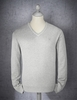 Jeff Banks Light Grey V Neck Cotton Jumper Lge Light Grey