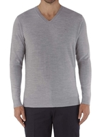 Jumpers  - Jeff Banks Light Grey V Neck Jumper XXL Light Grey