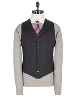 Waistcoats  - Stvdio by Jeff Banks Navy narrow stripe 6 button tailored fit suit waistcoat 36R Navy