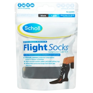 Socks & Hosiery  - Scholl Cotton Feel Flight Socks - Size 3 - 6 quantity - 1 PAIR