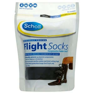 Socks & Hosiery  - Scholl Cotton Feel Flight Socks - Size 9.5 - 12 quantity - 1 PAIR