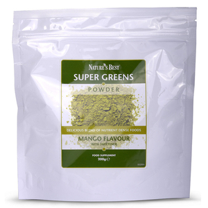Super Greens Powder Mango Flavour quantity - 200 Grams