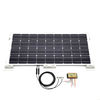 DIY Biard White 80W Solar Panel With 10A Waterproof Charge Controller, White Corner Mounting Kit & 5M Extension Cables