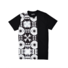 Clothing|T-Shirts, Polos & Tops Black Cut & Sew panelled T-Shirt with Monochrome Print