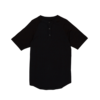 Clothing|Jackets|T-Shirts, Polos & Tops Black Pique sleeved T-shirt