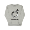 Clothing|Sweatshirts Blood Brother Mens O+ Zebra Print Grey Marl Sweatshirt