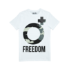 Clothing|T-Shirts, Polos & Tops Mens Freedom White Graphic Crew Neck T-Shirt