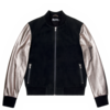 Clothing|Jackets Mens Varsity Silver Bomber Jacket