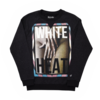 Clothing|Sweatshirts Mens White Heat Graphic Raglan Black Sweatshirt